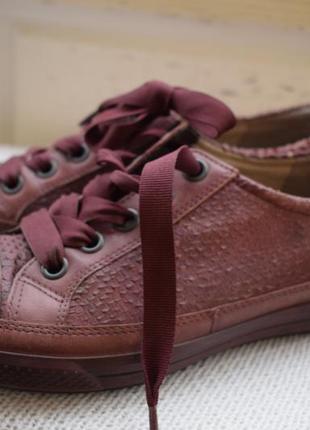 Кожаные туфли мокасины слипоны кроссовки ecco р.39 25 см