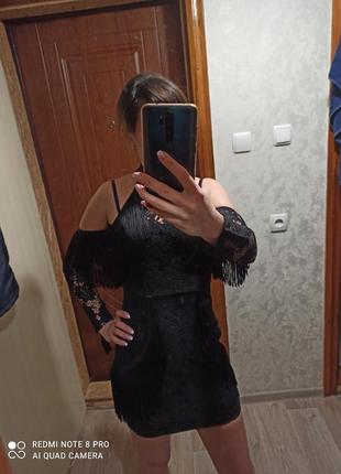Красивое ажурное вечернее, бальное платье5 фото
