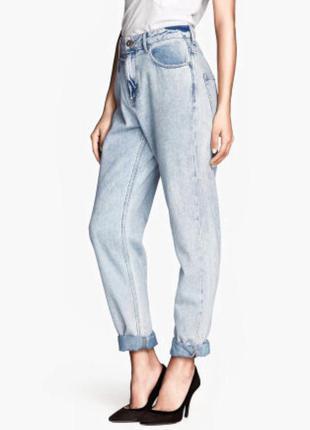Mom jeans винтажные стиль мам джинс джинсы р. m 29/32 высокая посадка