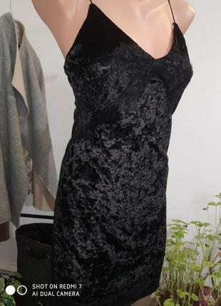 Бархатное  платье в пижамном стиле loving things 10/s