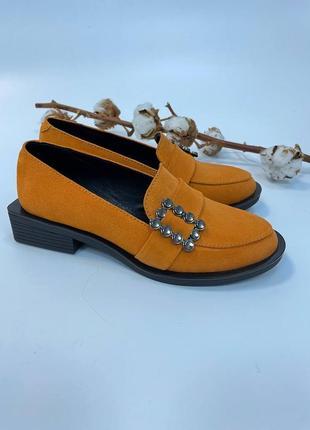 Лоферы замшевые туфли