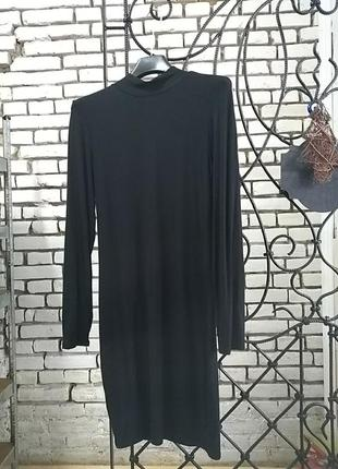 Чорна базова сукня гольф віскоза 14uk
