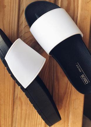 Силиконовые шлепки шлепанцы на платформе asos 37, 38, 39, 40