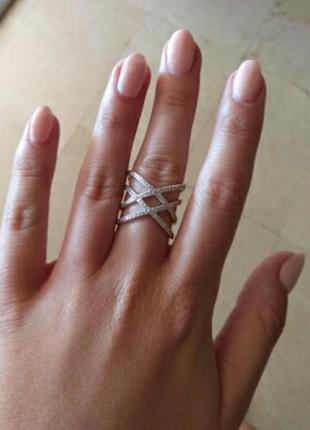 Новое шикарное перекрестное кольцо