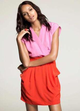 Двухцветное платье h&m на запах