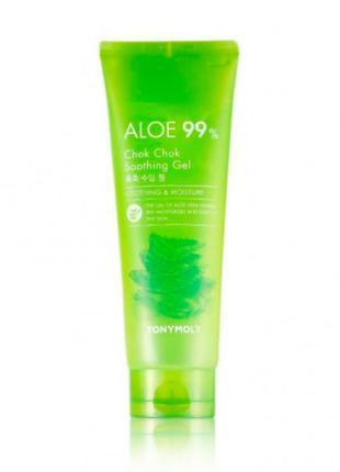 Гель маска крем алое tony moly aloe 99% chok chok soothing gel 250мл