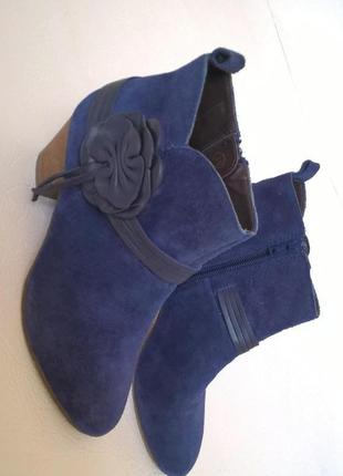 Ботильоны ботинки осенние замшевые 38,5-39