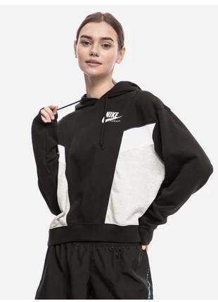 Толстовка жіноча nike sportswear heritage hoodie fleece cz8604-010