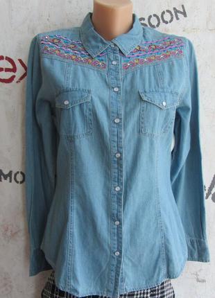 Джинсовая рубашка арт.194