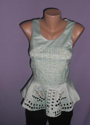 Нереально красивая блузочка с баской  h&m