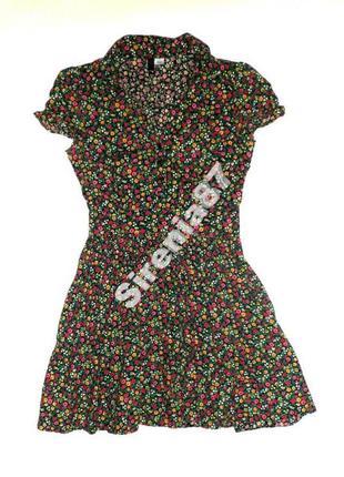 №185 стильное платье рубашка в цветочек