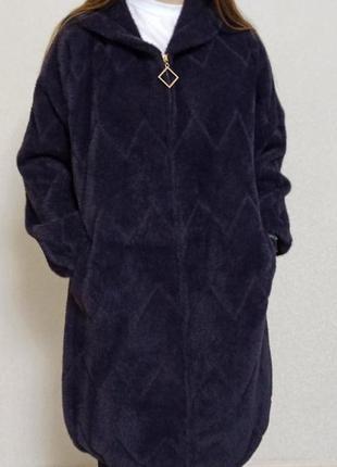 Бомбовая альпака пальто супер батал ог до 140 отличное качество