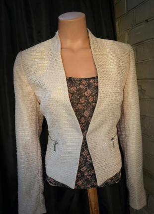 Жакет пиджак h&m розовый