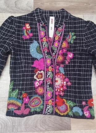 Kenzo defile винтажный дизайнерский пиджак, жакет, блейзер, полу пальто