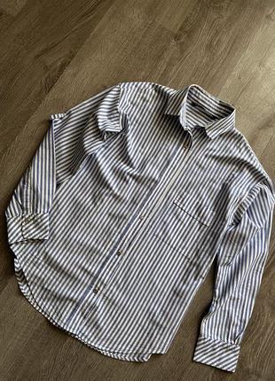 Стильная рубашка от zara в полоску
