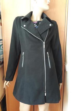 Пальто косуха на молнии размер 14