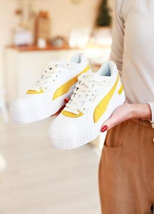 Женские кроссовки puma cali sport heritage white