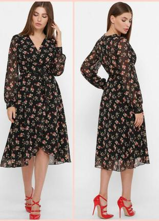 Очаровательное платье на запах (6 расцветок)* отличное качество