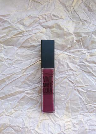 Маттовый блеск maybelline color sensational vivid matte liquid