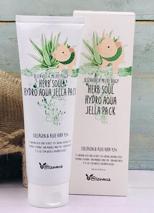 Увлажняющая маска крем elizavecca milky piggy herb soul hydro aqua jella pack
