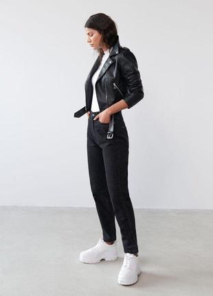 Куртка кожаная новая, косуха из искусственной кожи, размер хл