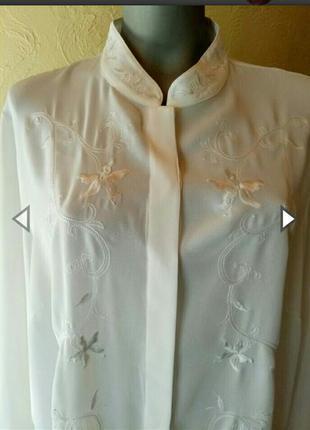Белая длинная винтажная рубашка большого размера 56-58 (24)