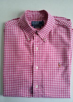 Трендовая натуральная рубашка polo ralph lauren p.m