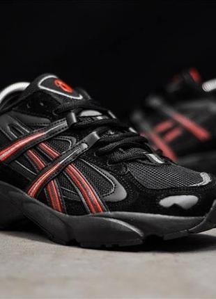 Мужские кроссовки asics gel 5 og (чёрные с красным)