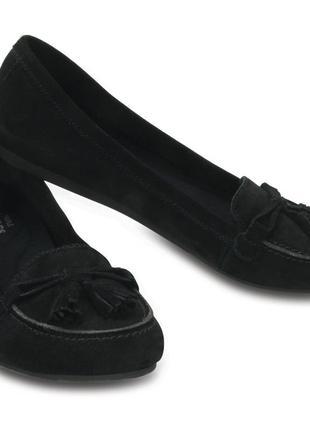 Замшевые балетки crocs lina suede loafer, 38