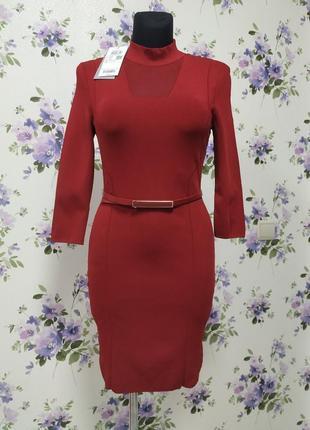 Новое платье-чулок красного цвета vero moda