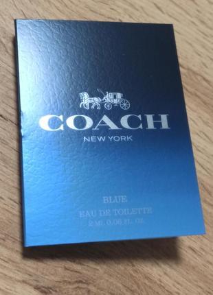 Coach blue туалетная вода пробник
