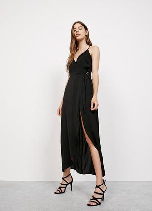 Bershka сексуальное длинное платье-ромпер шорты размер s-xs