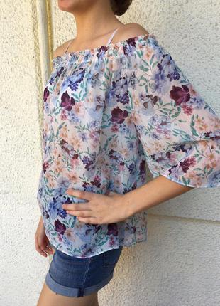 Невесомая брендовая кроп-блузка mango