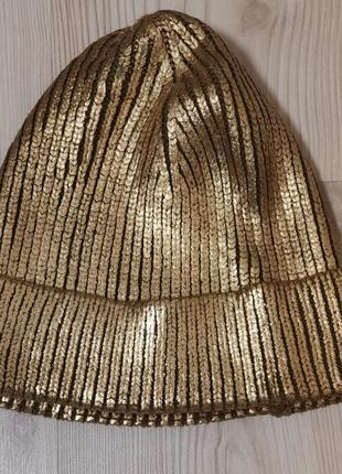 """Брендовая шапка """"золото"""""""