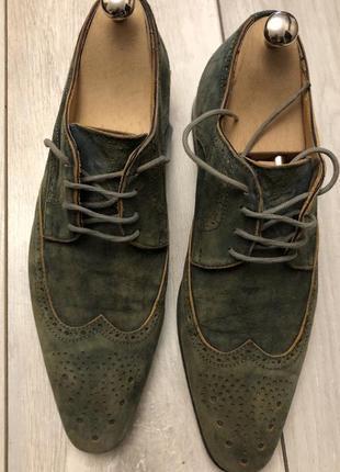 Кожаные мужские ботинки (43р.) италия