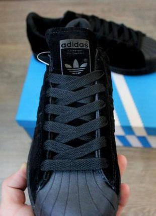 "Кроссовки ""adidas superstar new york suede black"""