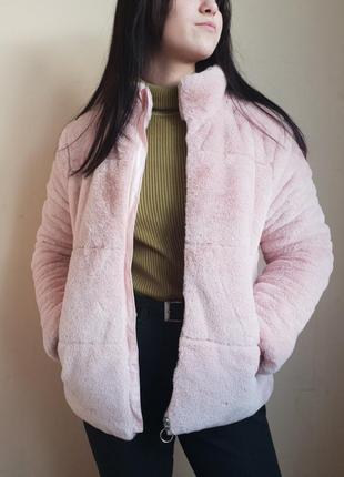 Полушубок - куртка из искусственного меха