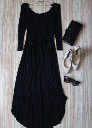 Актуальное асимметричное платье с вырезом на спине №23