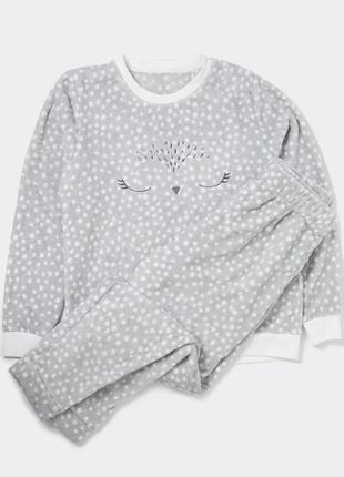 Шикарнючая пижама пушистый флис от dunnes, англия. размеы s, l