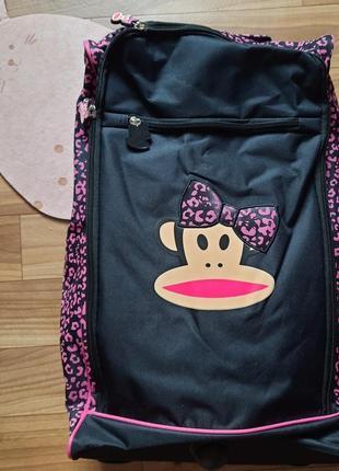 Дорожная сумка, чемодан на колесиках, с выдвижной ручкой. usa, америка