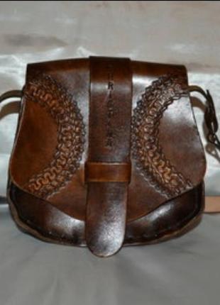 Кожаная сумочка ручной работы christina