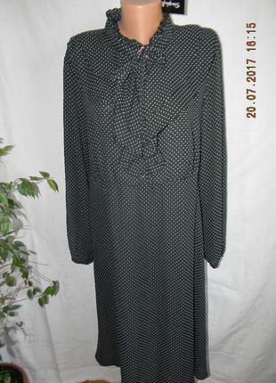 Новое платье в горошек большого размера
