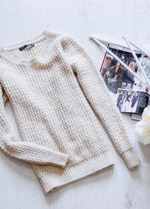 Бежевый вязанный свитер от atmosphere