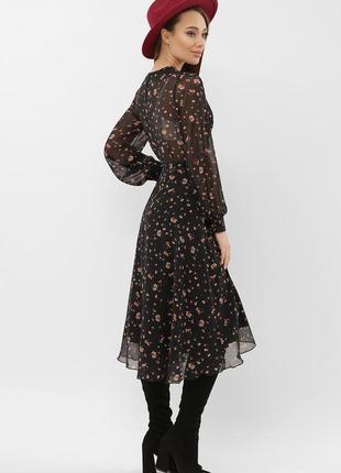 Новинка! платье женское шифоновое миди