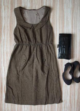 Теплое платье с воротничком №489