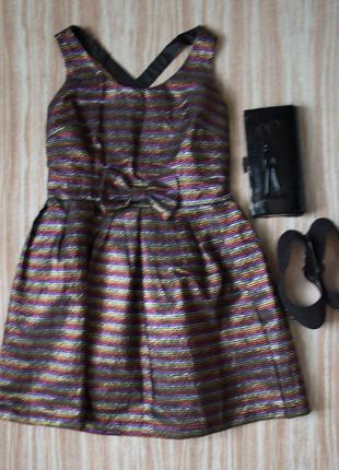 Праздничное платье с люрексом №475