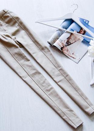 Шикарные бежевые брюки на высокой посадке от f&f