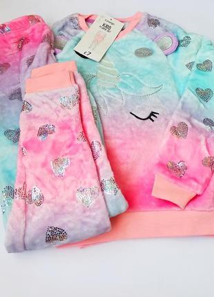 Пижама пушистый флис, george. размеры 4-5,6-7,7-8 лет