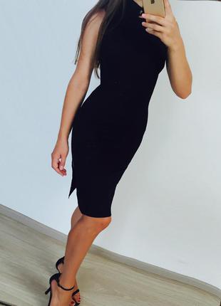 Шикарное чёрное платье zara