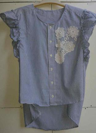 Ультромодная летняя легкая блузочка, бренда zara,подойдет на 48,50, р.